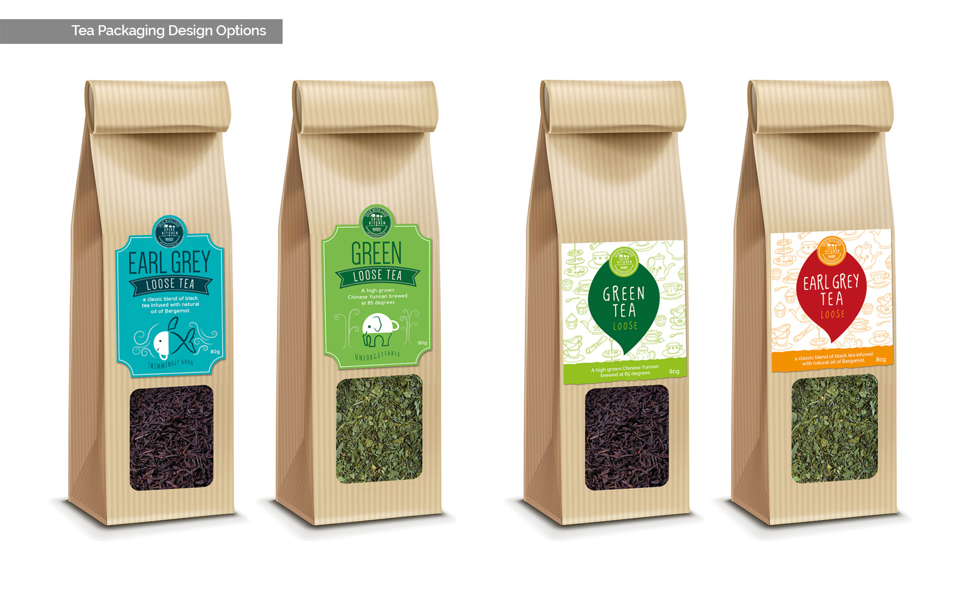 Tea packaging design options