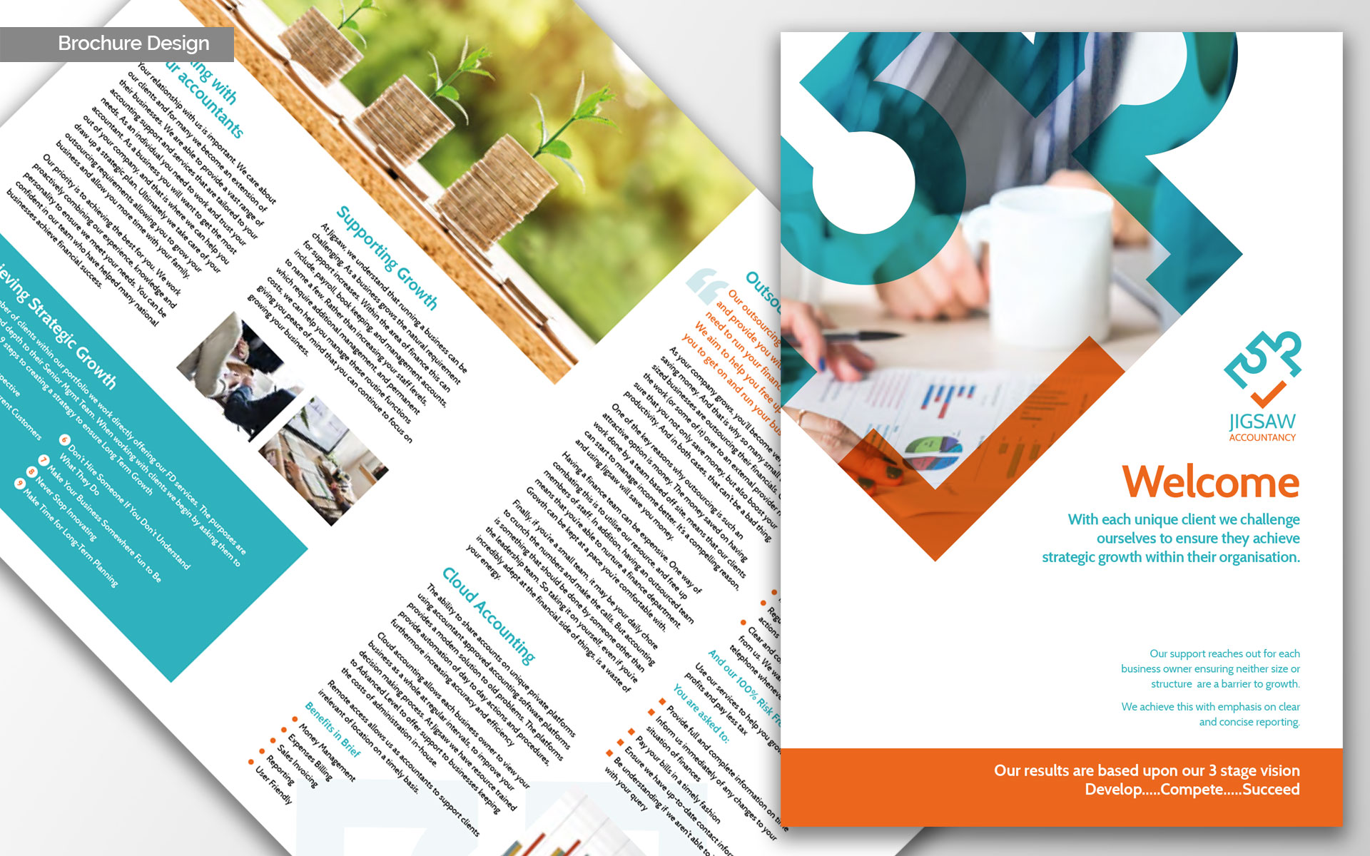jigsaw brochure design